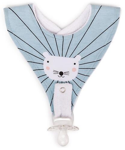 Нагрудный фартук Happy Baby с креплением для пустышки Mouse (3)