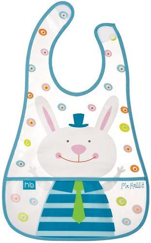 Слюнявчик на липучке Happy Baby Children's bib Mr Rabbit (1)