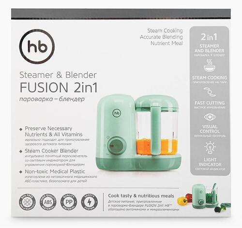 Пароварка-блендер Happy Baby Fusion 23001 Olive (12)