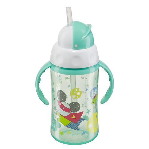 Поильник Happy Baby с трубочкой и ручками Feeding cup 240 мл Мятный (4)