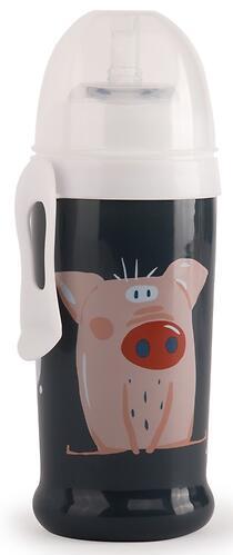 Поильник Happy Baby для кормления с трубочкой и прищепкой 360мл 14015 Smoky (5)