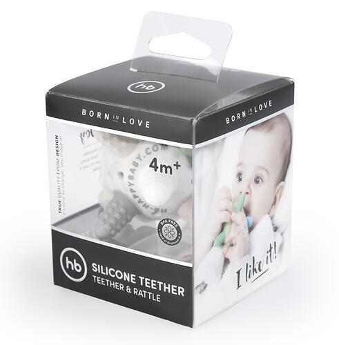 Прорезыватель силиконовый Happy Baby Silicone Teether 20028 Grey (5)