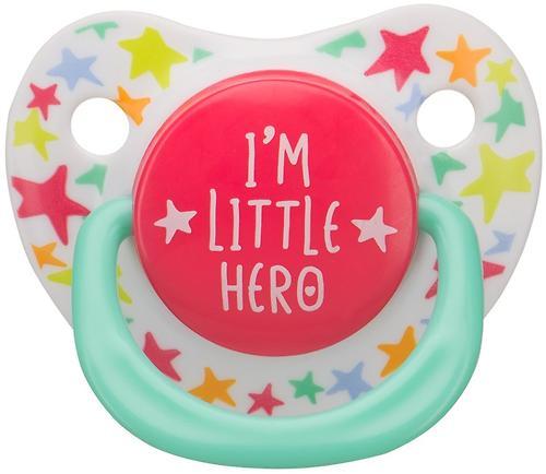 Соска Happy Baby 12-24 мес Baby Soother Natural dental симметричной формы I am a hero (4)