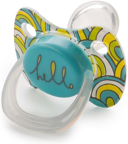 Соска Happy Baby Baby Pacifier 0-12 мес ортодонтической формы c колпачком Blue (5)