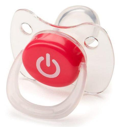 Соска Happy Baby Baby Pacifier 0-12 мес ортодонтической формы c колпачком Red (4)