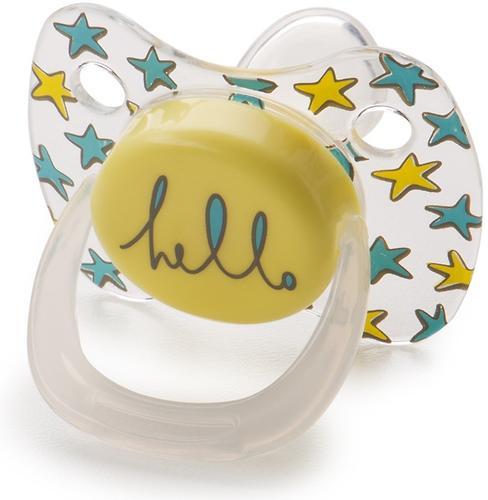 Соска Happy Baby Baby Pacifier 12-24 мес ортодонтической формы c колпачком Yellow (5)