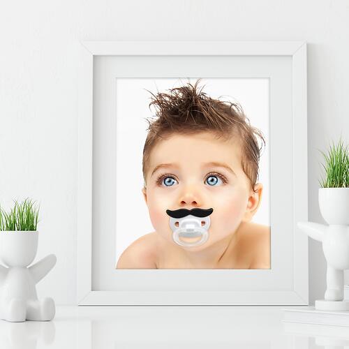 Соска-пустышка Happy Baby Baby силиконовая ортодонтическая Усики (7)