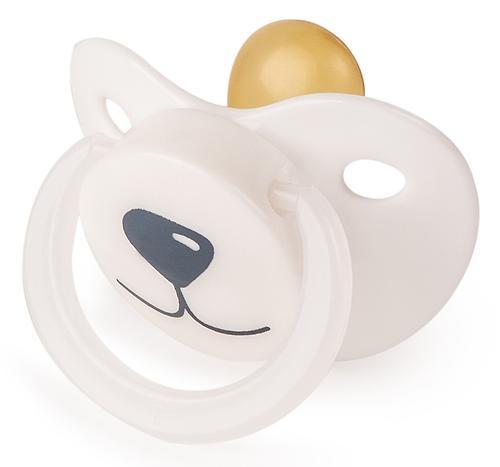 Соска-пустышка Happy Baby Baby латексная 0+ Белый Медвежонок (4)
