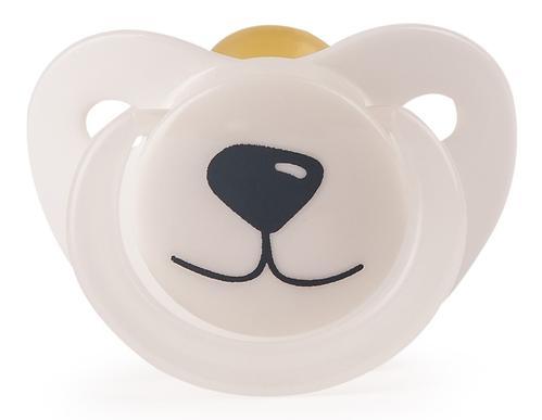 Соска-пустышка Happy Baby Baby латексная 0+ Белый Медвежонок (5)