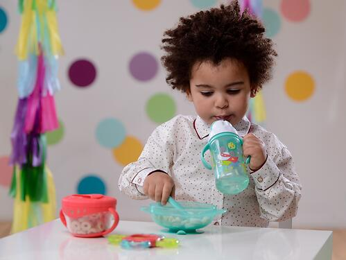 Тарелочка детская на присоске с крышкой Happy baby Feeding Bowl Ruby (6)