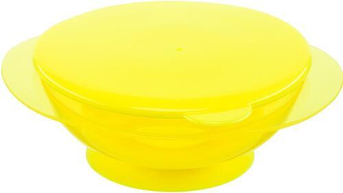 Тарелочка детская на присоске с крышкой Happy baby Feeding Bowl Lemon (4)