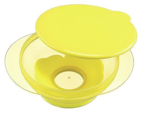 Тарелочка детская на присоске с крышкой Happy baby Feeding Bowl Lemon (5)