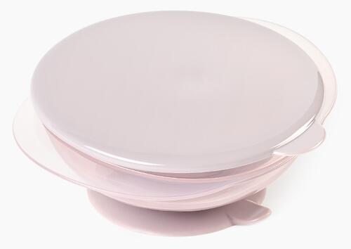 Тарелка Happy Baby детская на присоске с крышкой Eat&Carry 15002 Lilac (6)