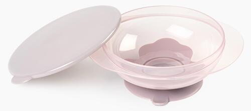 Тарелка Happy Baby детская на присоске с крышкой Eat&Carry 15002 Lilac (7)