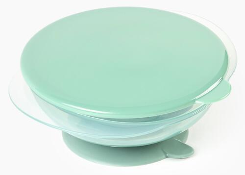 Тарелка Happy Baby детская на присоске с крышкой Eat&Carry 15002 Olive (6)
