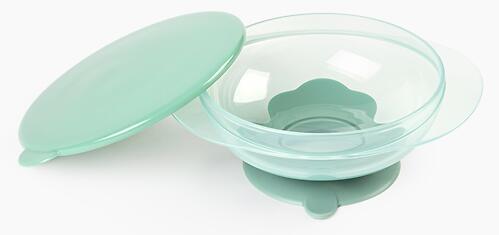 Тарелка Happy Baby детская на присоске с крышкой Eat&Carry 15002 Olive (7)