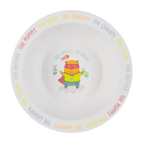 Тарелка Happy Baby глубокая Feebing bowl Кошка (1)