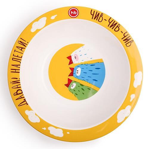 Тарелка Happy Baby глубокая Feebing bowl Птички (3)