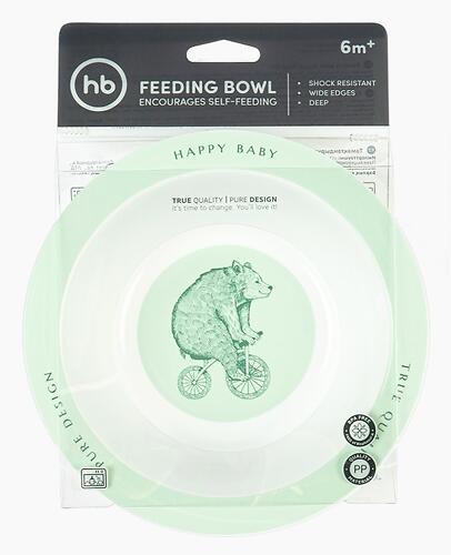 Тарелка Happy Baby глубокая Feebing Bowl 15016 Olive (6)