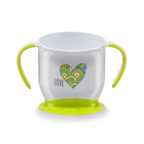 Кружка Happy Baby на присоске Baby cup with suction base Салатовая (5)