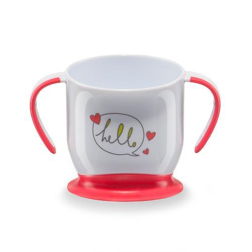 Кружка Happy Baby на присоске Baby cup with suction base Красная (5)