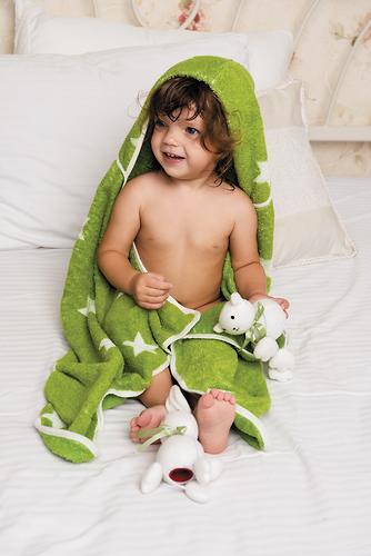 Полотенце с капюшоном Happy Baby Fluffy Green (4)