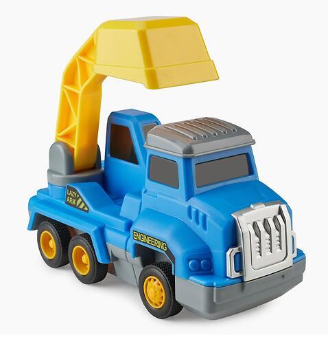 Игрушка дорожная техника с аксессуарами Happy Baby Magnetic Engineer Set Blue and Yellow 331870 (11)