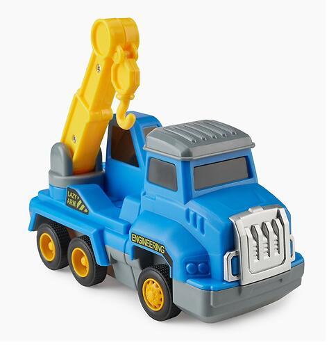Игрушка дорожная техника с аксессуарами Happy Baby Magnetic Engineer Set Blue and Yellow 331870 (12)