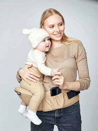 Рюкзак-переноска Happy Baby BABYSEAT 40029 Beige (22)