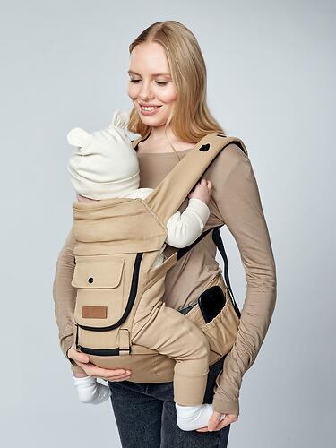Рюкзак-переноска Happy Baby BABYSEAT 40029 Beige (18)