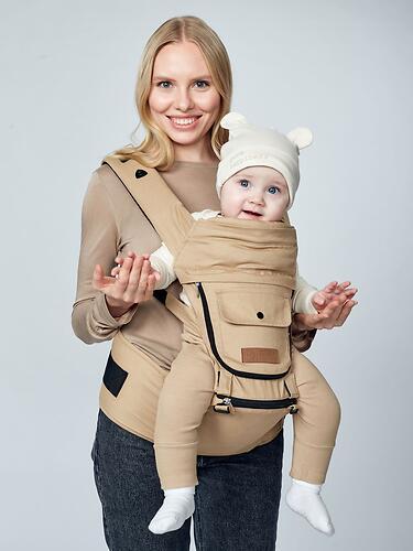 Рюкзак-переноска Happy Baby BABYSEAT 40029 Black (20)