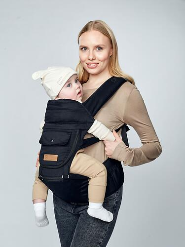 Рюкзак-переноска Happy Baby BABYSEAT 40029 Black (18)