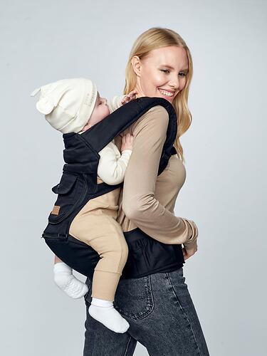 Рюкзак-переноска Happy Baby BABYSEAT 40029 Black (21)