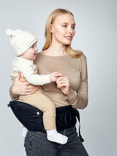 Рюкзак-переноска Happy Baby BABYSEAT 40029 Black (22)