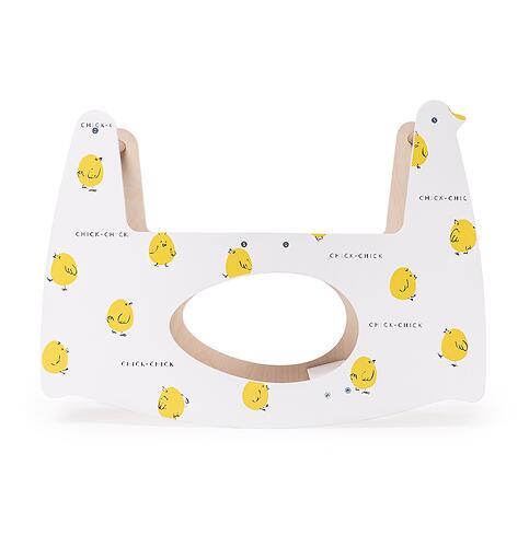 Люлька Happy Baby Milly Дымчатая с качалкой Milly Swing Цыплёнок (14)