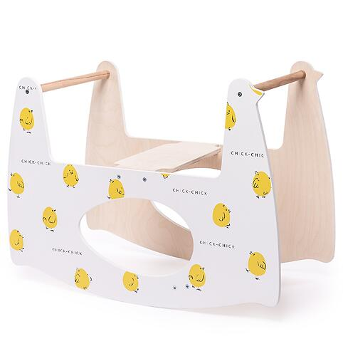 Люлька Happy Baby Milly Дымчатая с качалкой Milly Swing Цыплёнок (15)