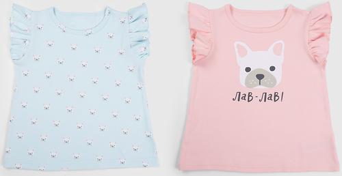 Майки для девочек Happy Baby T-Shirt Set 2шт (6)