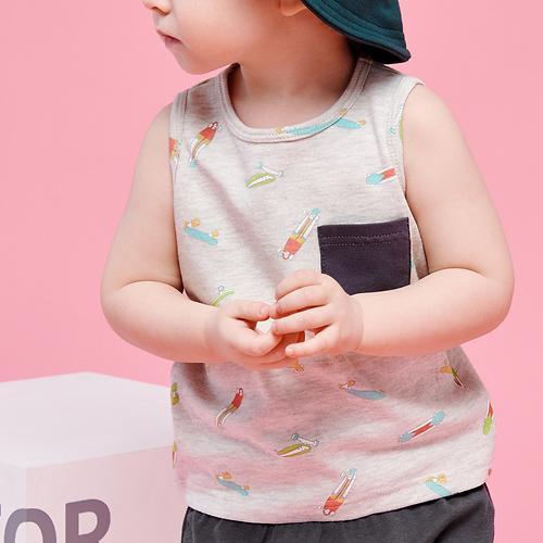 Набор для мальчиков Happy Baby Майка и нагрудный фартук 88003 (6)