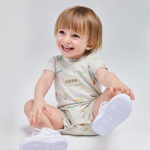 Полукомбинезон для мальчика Happy Baby Romper Set 2шт (11)