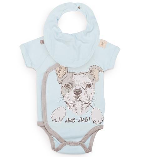 Боди с коротким рукавом Happy Baby в наборе с нагрудным фартуком арт.90023 (4)