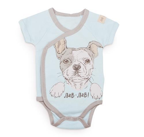 Боди с коротким рукавом Happy Baby в наборе с нагрудным фартуком арт.90023 (5)