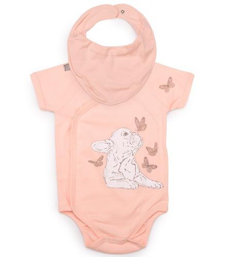 Боди с коротким рукавом Happy Baby в наборе с нагрудным фартуком арт.90024 (5)