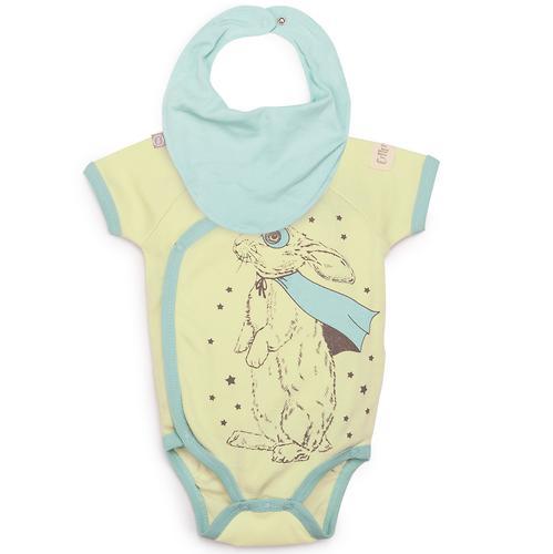 Боди с коротким рукавом Happy Baby в наборе с нагрудным фартуком арт.90025 (5)