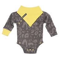 Боди Happy Baby с длинным рукавом в наборе с нагрудным фартуком Happy Baby 90048