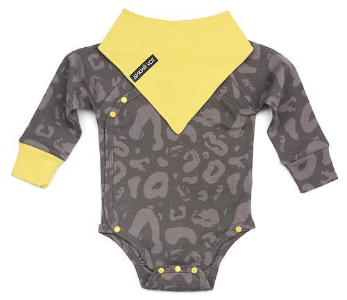 Боди Happy Baby с длинным рукавом в наборе с нагрудным фартуком Happy Baby 90048 (5)