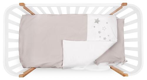 Комплект постельного белья Happy Baby 2 предмета наволочка+пододеяльник White-Beige (6)