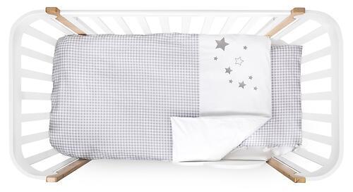 Комплект постельного белья Happy Baby 2 предмета наволочка+пододеяльник White-Grey 87504 (8)