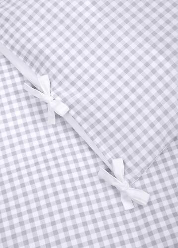 Комплект постельного белья Happy Baby 2 предмета наволочка+пододеяльник White-Grey 87504 (9)