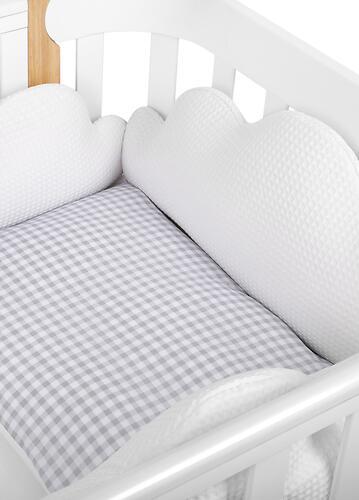 Комплект постельного белья Happy Baby 2 предмета наволочка+пододеяльник White-Grey 87504 (13)