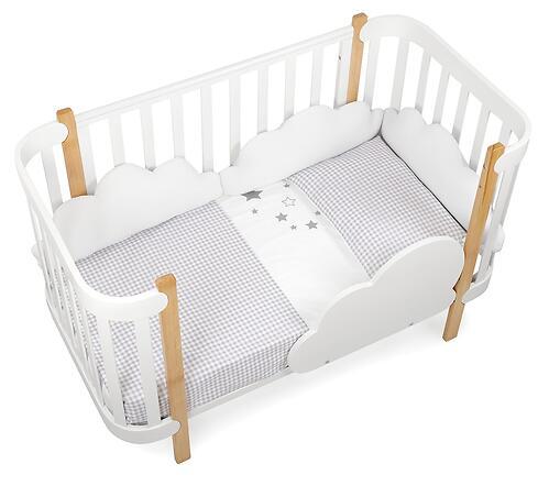 Комплект постельного белья Happy Baby 2 предмета наволочка+пододеяльник White-Grey 87504 (14)
